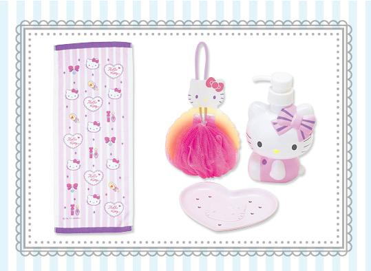 Accesorios De Baño Hello Kitty:set de baño hello kitty contiene una toalla grande esponja de