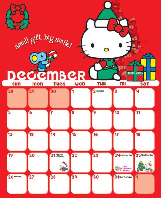 calendario 2010 hello kitty
