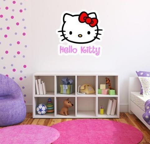 Hello kitty blog calcoman as de pared kitty for Calcomanias pared